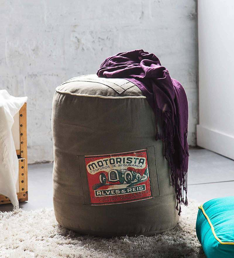 Motley Multicolor Pouffe by Bohemiana