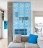 Blue Acrylic with Wooden Lamination Room Divider by Planet Decor