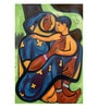 Mother & Child Ii, by Shanti Dave, Reproduction of Paper, 35 x 24 Inch