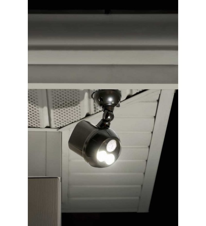 MB390-300Lumen Weatherproof Wireless Battery Powered LED Ultra Bright Spotlight with Motion Sensor, Brown by Mr Beams