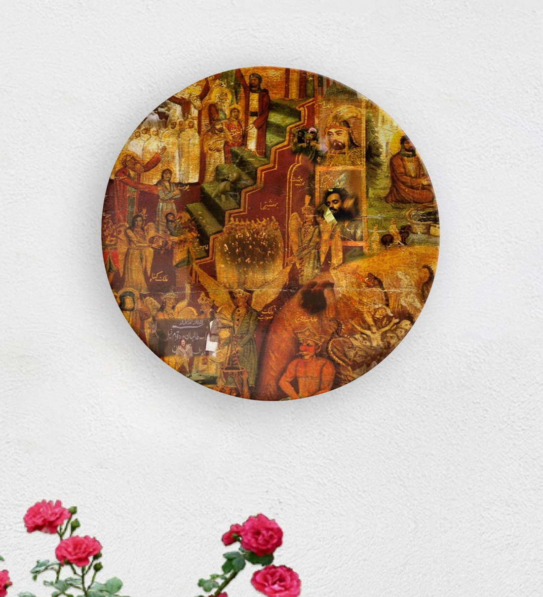 Buy Multicolour Ceramic Artistic Painting Decorative Wall Plate By Quirk India Online Wall Plates Wall Art Home Decor Pepperfry Product