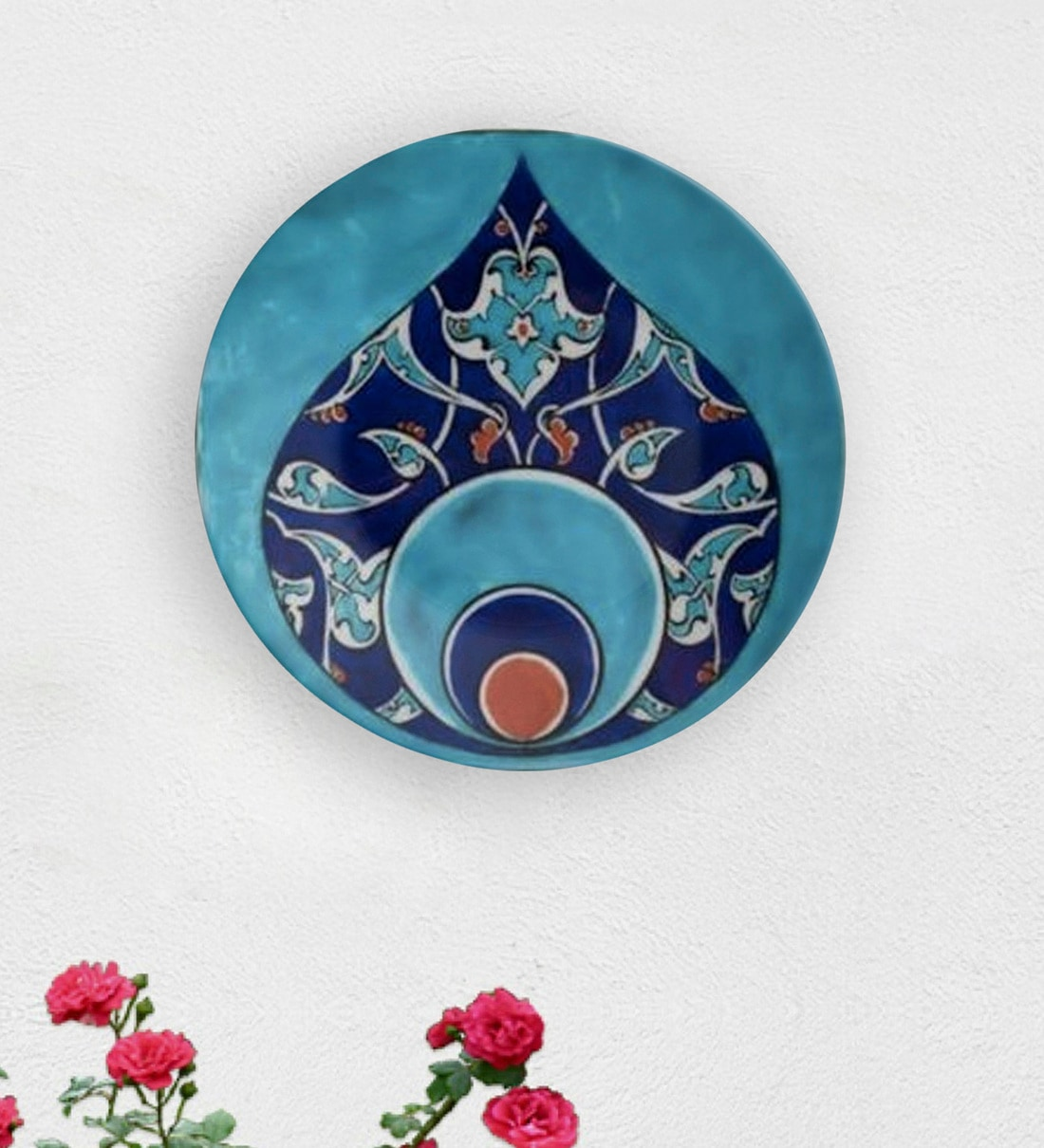 Buy Multicolour Ceramic Turkish Morrocon Tile Decorative Wall Plate By Quirk India Online Wall Plates Wall Art Home Decor Pepperfry Product