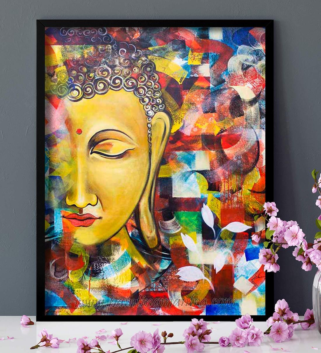 Buy Multicolour Cotton Canvas Religious Art Prints By Art Street Online Spiritual Art Prints Art Prints Home Decor Pepperfry Product