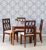 Wisconsin Four Seater Dining Set in Provincial Teak Finish