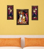 Buy Multicolor Set Of 3 Framed Wall Hanging Art Prints By Indianara