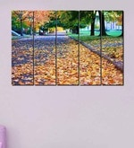 Buy Multiple Frames Printed Yellow Leaves on the road Art Panels like Painting - 5 Frames by 999Store Online - Landscape Art Panels - Landscape Art Panels - Wall Art - Pepperfry Product