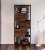 Murakami Bookcase in Walnut Brown Finish