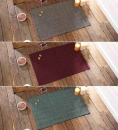 Multicolour Cotton 20 X 30 Inch Door Mats - Set Of 3