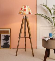 Multicolour Fabric Floor Tripod Lamp