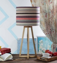 Multicolour Fabric Table Lamp - 1630892