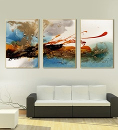 Multicolour Hand Painted Modern Abstract Framed Wall Art Print Canvas ...