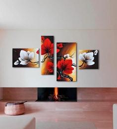 Multicolour Handmade Acrylic Painting Style Flower Wall Art Decor By 999