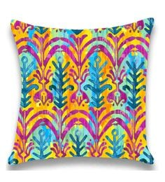 Multicolour Satin 16x16 Inch Cushion Cover - 1661110