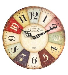 Vintage clocks buy vintage clocks online in india at best prices multicolour wood wall clock gumiabroncs Gallery
