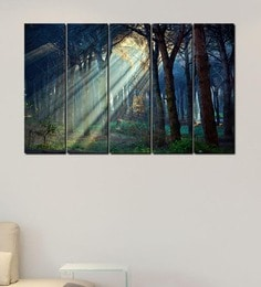 1361999918f0 Multiple Frames Printed Sunlight between trees Art Panels like Painting - 5  Frames