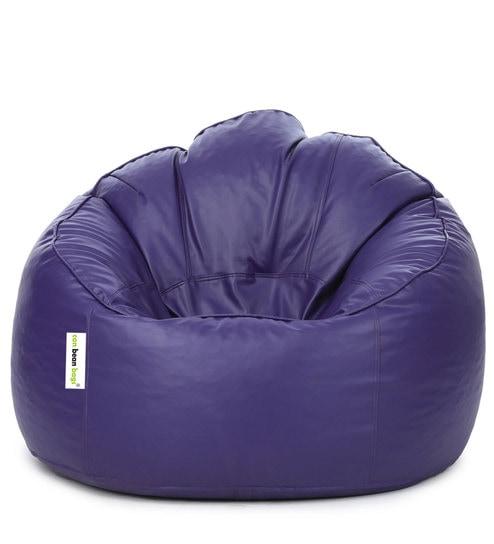 Bon Mudda XXXL Bean Bag Chair With Beans In Purple Colour By Can