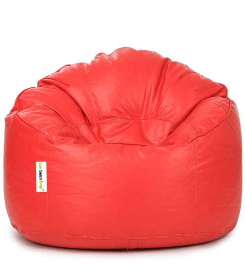 Mudda XXXL Bean Bag Chair With Beans In Red Colour By Can