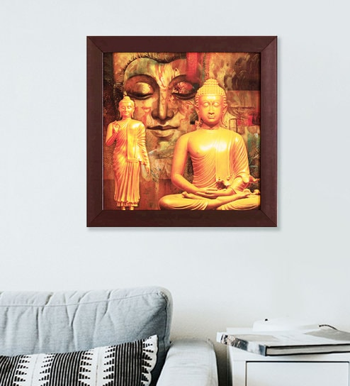Awesome Multicolor Beautifully Printed Buddha Framed Art Print By Skey Complete Home Design Collection Barbaintelli Responsecom
