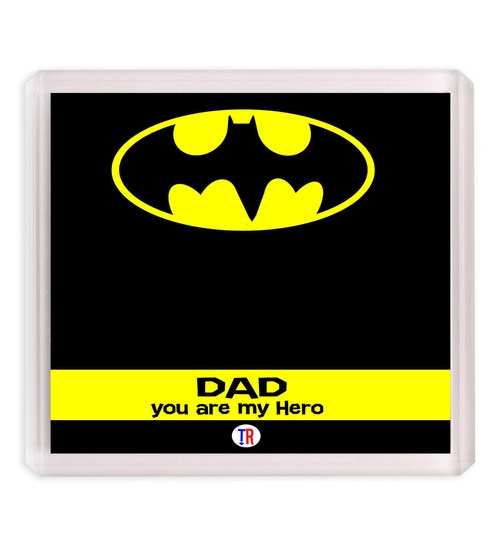 Buy Multicolor Dad My Hero Fridge Magnet By Thought Road Online