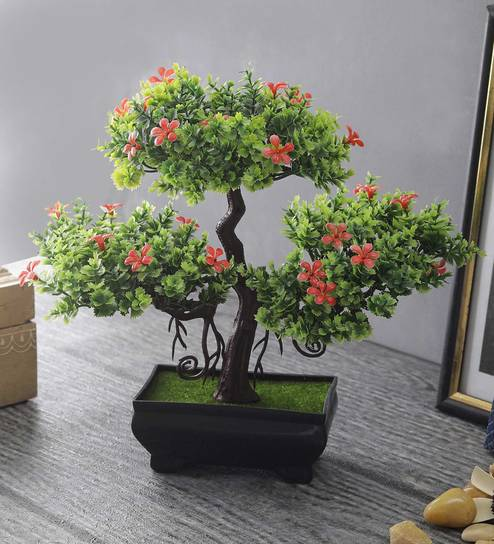 9120cbb8e Buy Multicolor Plastic 3 Headed Bonsai Tree With Small Red Flowers By  Foliyaj Online - Artificial Plants - Artificial Plants - Decor - Pepperfry  Product