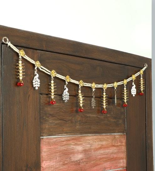 d6f09cfe86b Multicolor Plastic Moti Door Hanging Toran By Itiha