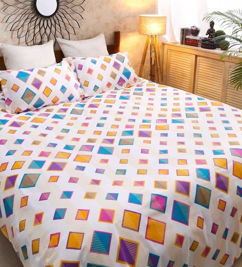 225f7bac47 Galaxy Abstract Pattern 120TC Cotton Double Size Bed Sheet with 2 Pillow  covers By Raymond Home