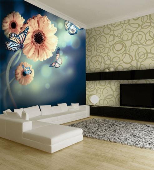 Multicolour 108 X 72 Inches Vinyl Wallpaper By Bliss Decor