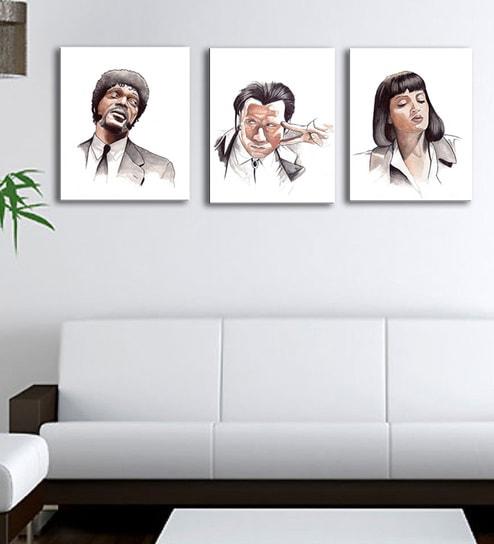 Buy Multicolour 12 x 0.5 x 12 Inch Canvas Pop Art -Pulp Fiction Art ...
