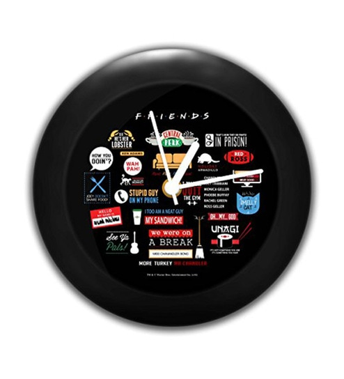 Multicolour ABS Plastic Official Friends TV Series Infographic Table Clock  by MC SID RAZZ