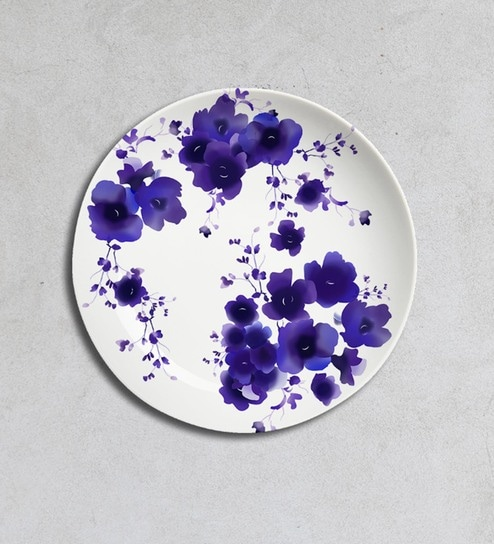 Multicolour Bone China Floral Dreams Wall Plate By Cyahi
