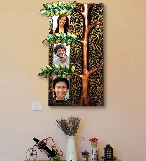 Multicolour Br Tree Design Wall Hanging Photo Frame By Craftedindia