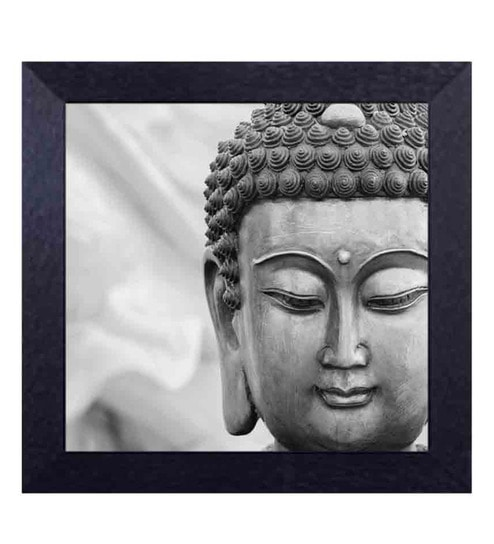 Multicolour canvas cloth gautam buddha black white digital art print by decor design