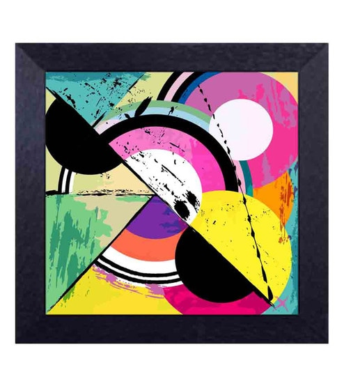 Buy multicolour canvas cloth modern art geometrical shape for Modern art to buy