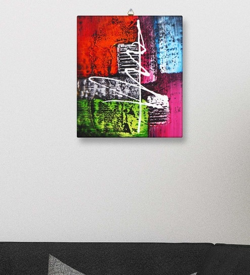 Multicolour Canvas Modern Abstract Art Wall Painting On Canvas ...