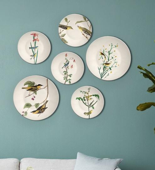 Multicolour Ceramic Indian Birds