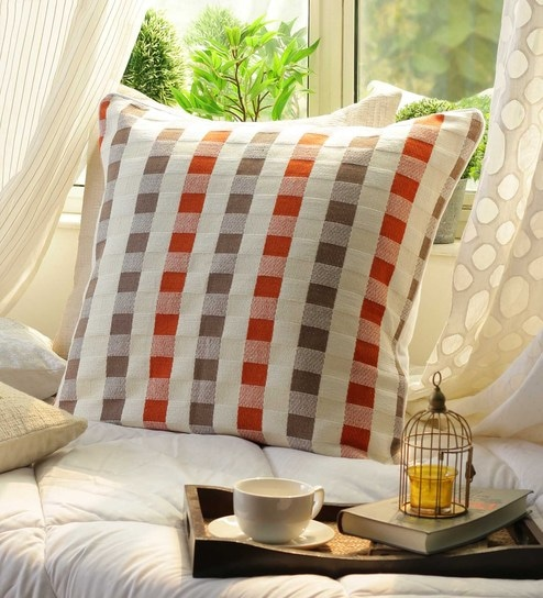 Buy Multicolour Cotton 40 X 40 Inch Cushion Cover By Solaj Online Gorgeous 24 Inch Pillow Cover