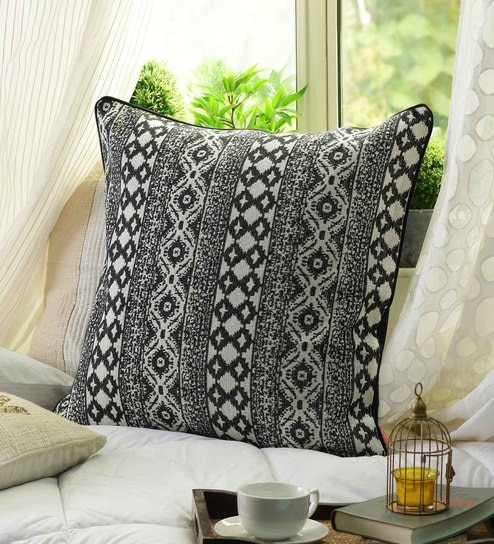 Buy Multicolour Cotton 40 X 40 Inch Cushion Cover By Solaj Online Extraordinary 24 Inch Pillow Cover