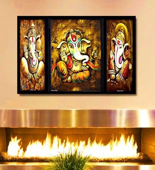 Buy Multicolour Digital Paper Ganesh Blessings with Moodak in Hand ...