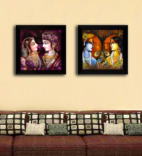 Buy Multicolour Digital Paper Radha Krishna Paintings by Gallery99 ...