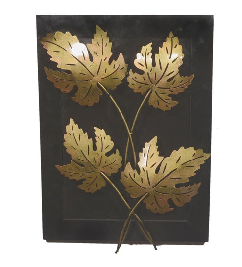 Multicolour Iron u0026 Wood Handmade Wall Hanging Maple Leaf Wall Art by Desert Overseas  sc 1 st  Pepperfry & Buy Multicolour Iron u0026 Wood Handmade Wall Hanging Maple Leaf Wall ...