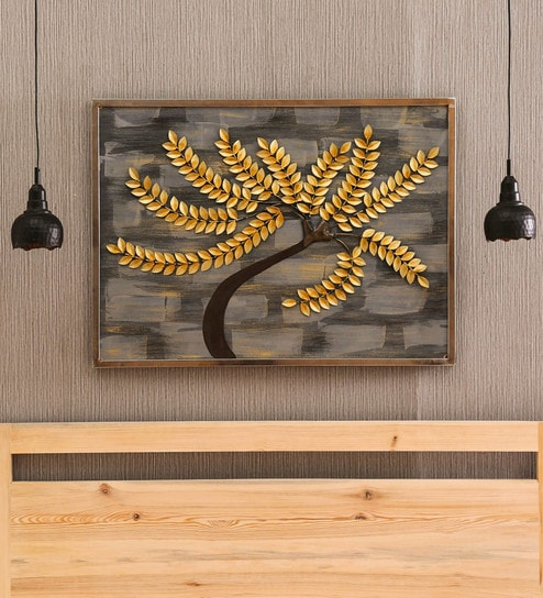 Multicolour Iron Coral Tree Wall Decor by Vedas