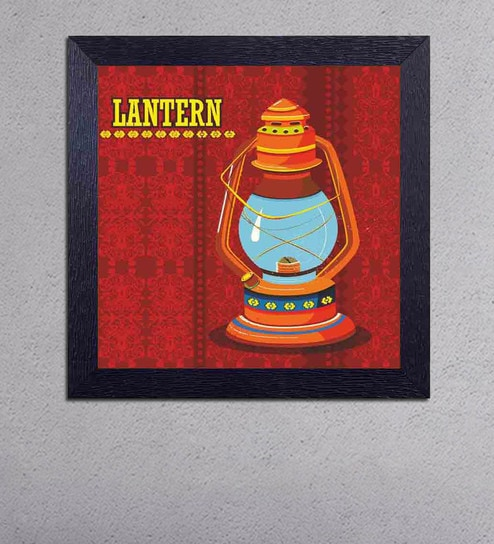 Multicolour Matt Paper Lantern Poster by Decor Design