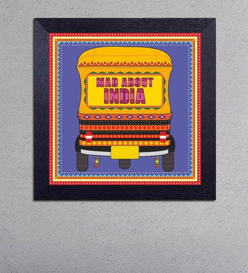 Multicolour Matt Paper Mad About India on Auto Poster by Decor Design