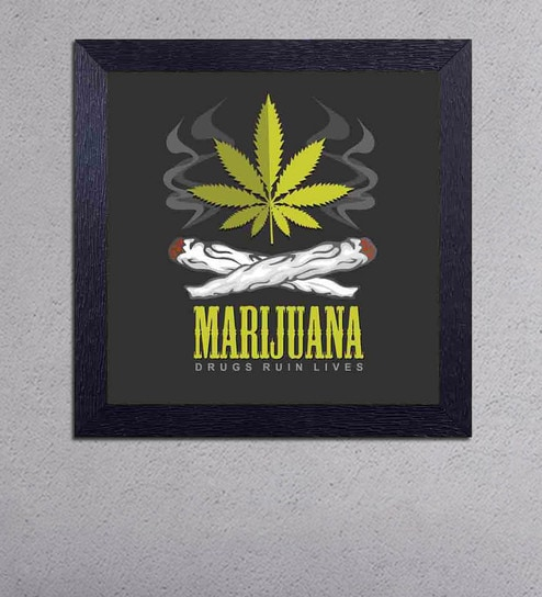 Multicolour Matt Paper Marijuana Drugs Ruin Lives Poster by Decor Design