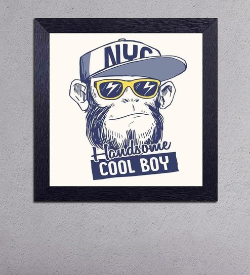 Multicolour Matt Paper NYC Handsome Cool Boy Poster by Decor Design