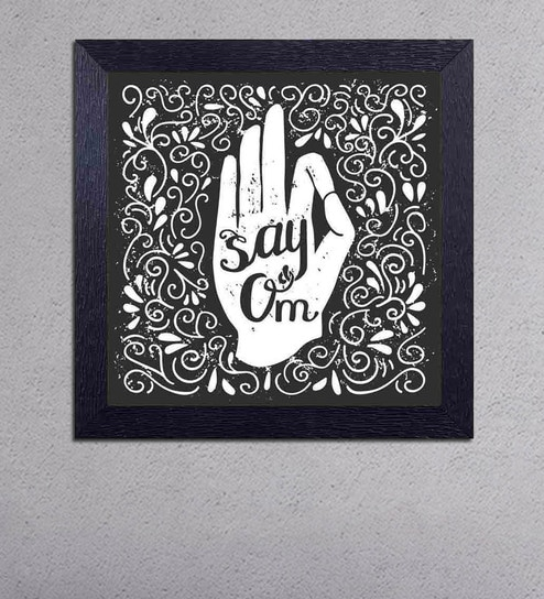 Multicolour Matt Paper Say Om Poster by Decor Design