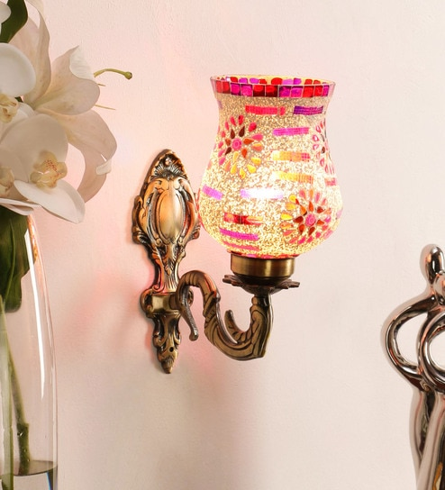 Buy White Metal Wall Sconces By Decorativeray Online Traditional Wall Sconces Wall Lights Lamps Lighting Pepperfry Product