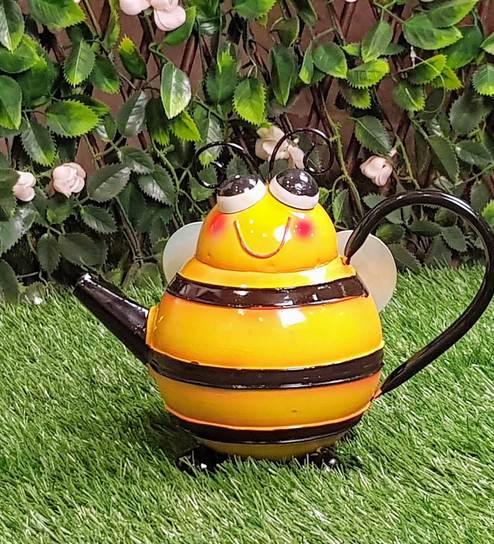 Buy Multicolour Metal Honey Bee Water Can By Wonderland Online