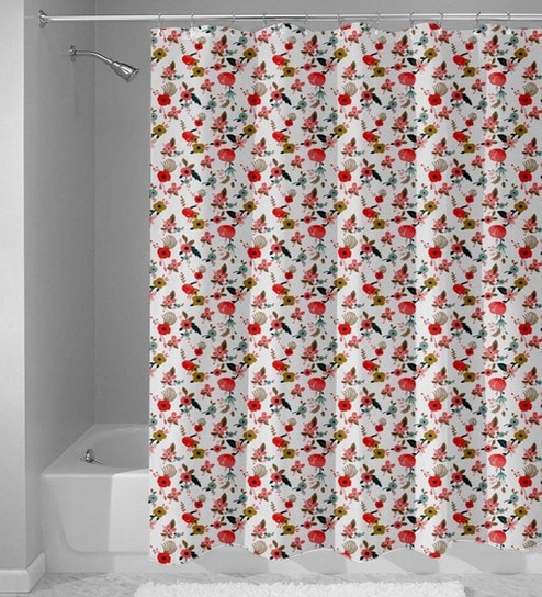 Multicolour Nylon 84 X 48 Inch Shower Curtain By Haus And Sie