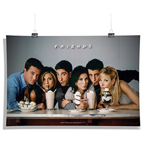 Multicolour Paper Official Friends TV Series Straw Wall Decor Poster By MC SID RAZZ